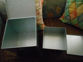 2 AS NEW GALVANIZED TINS