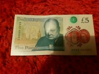 New AA43 £5 note