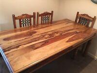 CORONA DINING TABLE + 6 CHAIRS