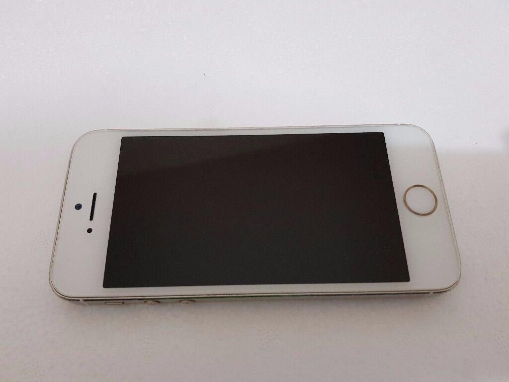 Apple iPhone 5s 16GB Gold Vodafone in Good to average with Fingerprint Sensor Fault