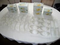 Vintage Ravenhead Flair 24% lead crystal glass collection 28 matching items