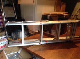 Loft ladder, 3 tier with hand rail