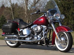 2012 Harley-Davidson FLSTN Softail Deluxe   Ember Sunglo Pearl a