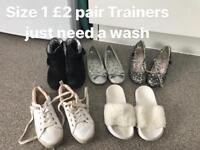 Girls shoes size 1-3