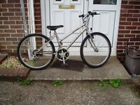 "MOUNTAIN BIKE, 24"" ALLOY WHEELS, 18 SPEED GEARS, FULLY SERVICED."