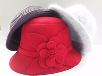 Three Decorative hats in three colours. Ideal point of sale for decorating fixtures.
