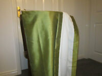 1pair Dupion style lined curtains