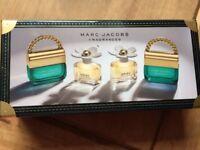 Marc Jacobs miniature perfume set.