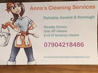Domestic cleaner highly recommended for END OF TENANCY CLEANING . INSURED