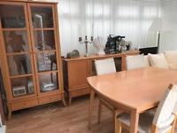 Sideboard display cabinet extending table 4 chairs Burton on Trent