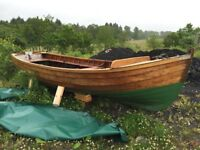 Clincker rowing boat