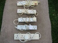 Five 4 Plug Extension Leads.