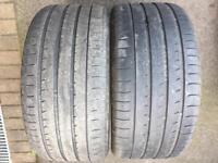 Yokohama ADVANsport 295/35 21 x2 tyres