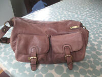 Storksak leather baby changing bag