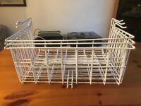 IKEA large white clip on basket shelves for storage/airing cupboard/kitcehn space x 3