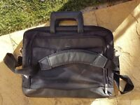 Black laptop bag by Dell
