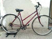 Ladies Legend town & trail hybrid bike in red Bristol Upcycles u