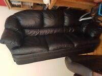 3 seat brow leather sofa