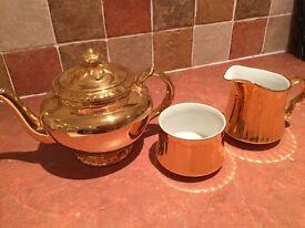 Royal Worcester gold lustre 3 piece set