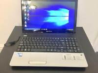 Packard Bell HD 4GB Ram Fast Laptop Massive 500GB,Window10,Microsoft office,Ready to use