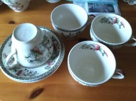 Indian tree cups and saucers