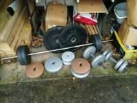 90kg dumbells and bars