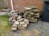 Free block paving assorted sized, also paving slabs 600x600