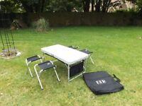 Fold away Picnic Table & Four Stools