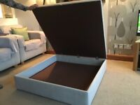 Bespoke Ottoman, pale grey, high quality durable material, excellent storage