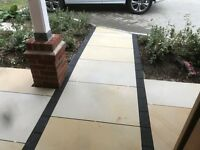 White Mint Indian Sandstone Honed and Sawn Calibrated Patio Paving - 600 x900 22mm