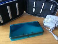 Blue Nintendo 3DS bundle!!with 10 games