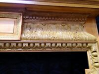 Victorian Pine fireplace surround.