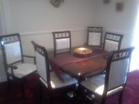 DINNING TABLE CHAIRS AND SIDEBOARD