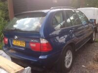 Breaking BMW X5 E53 3.0 diesel auto, blue, in good condition (paint code 364)