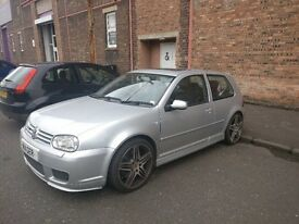 Volkswagen Golf r32 mk4. reflex silver. she's called Sylvia !