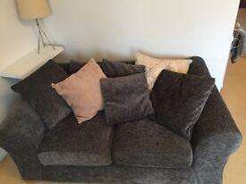 2x grey sofas