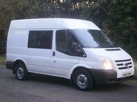 2010 FORD TRANSIT T280 SWB SEMI HIGH 115bhp FACTORY 6 SEAT CAB-IN VAN CREW VAN, CHEAPEST EVER!!!!!!!