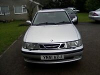 AUTOMATIC SAAB 9-3, 2-0 SE TURBO 5-DOOR 2001 (51 PLATE). 132k MILES, FULL SERVICE HISTORY LOVELY CAR