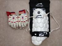 Mens Left Handed Batting Gloves and Thigh Pad