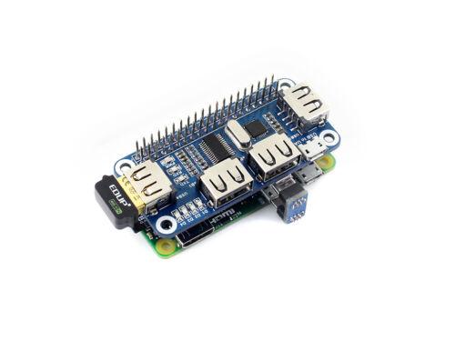 4 Port USB HUB HAT for Raspberry Pi 3B/ 3B+/ Zero/ Zero W USB to UART Onboard 5V
