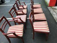 8 Mahogany Chairs (@07752751518)