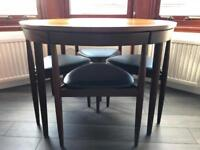 MCM Danish Roundette Table and 6 Chairs - Hans Olsen, Frem Rojle