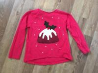 Girls Christmas pudding top age 18-24 months
