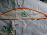 Nursery bedding and curtains set