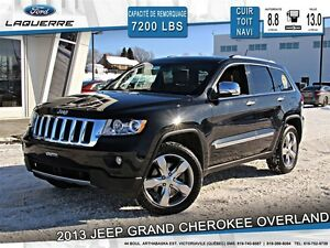 2013 Jeep Grand Cherokee **OVERLAND*AWD*CUIR*TOIT*NAVI*CAMERA*CR