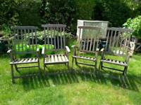 Folding garden chairs with arms 4 available