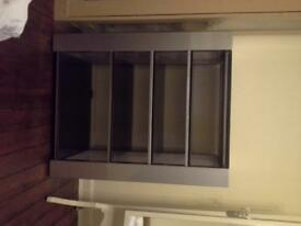 free to a good home steel and glass stereo unit