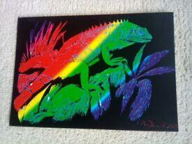 Chameleon etch art