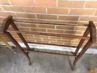 ANTIQUE ANTIQUE OLD STYLE WOODEN TOWEL RAIL STAND BATHROOM FURNITURE