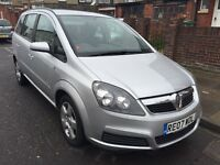 VAUXHALL ZAFIRA 1.8 SEVEN SEATER 2007 MET/SILVER OPEN 7 DAYS